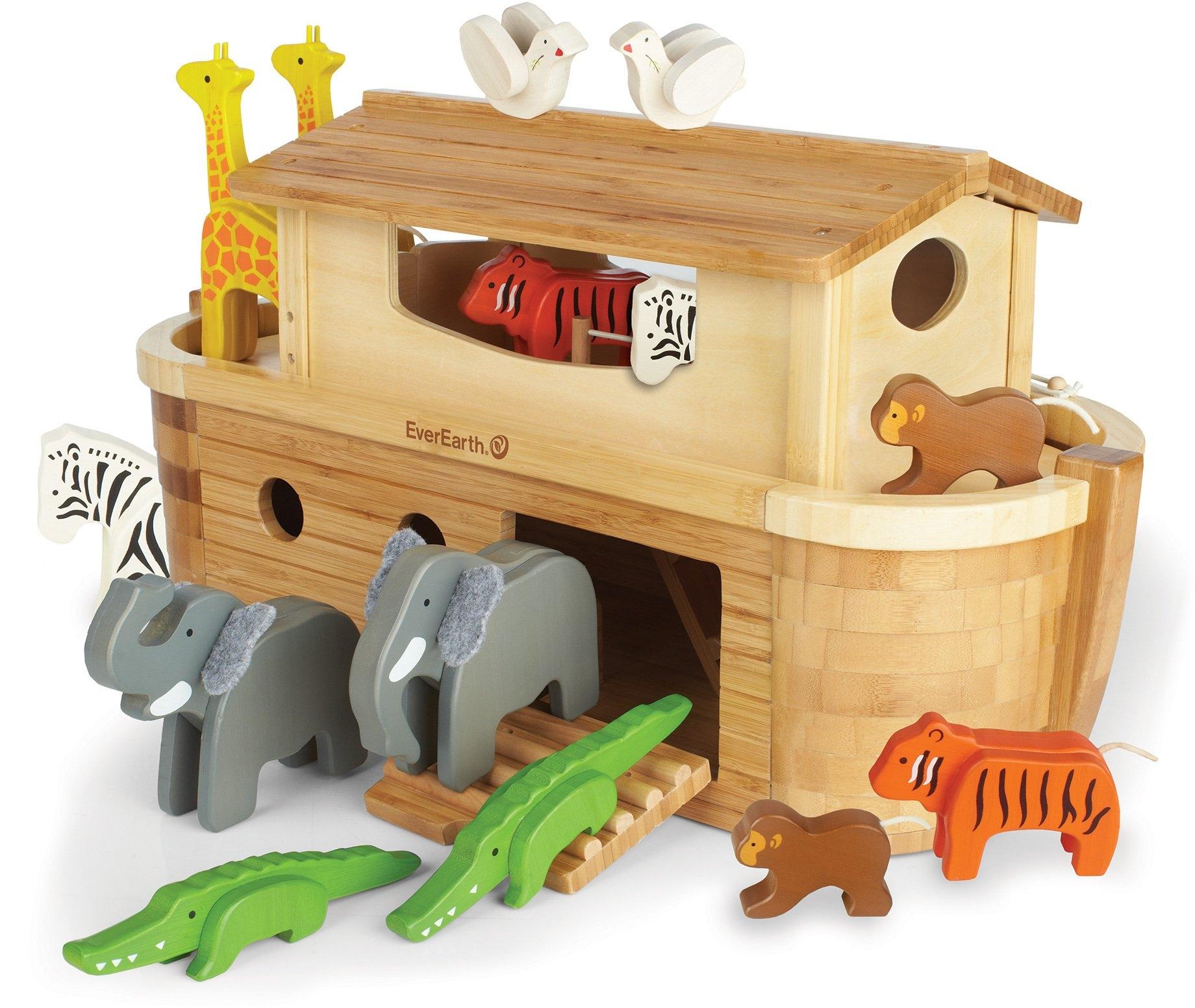 Everearth ® houten speelgoed, »Grote ark van Noach met 14 dieren« nu online kopen bij OTTO