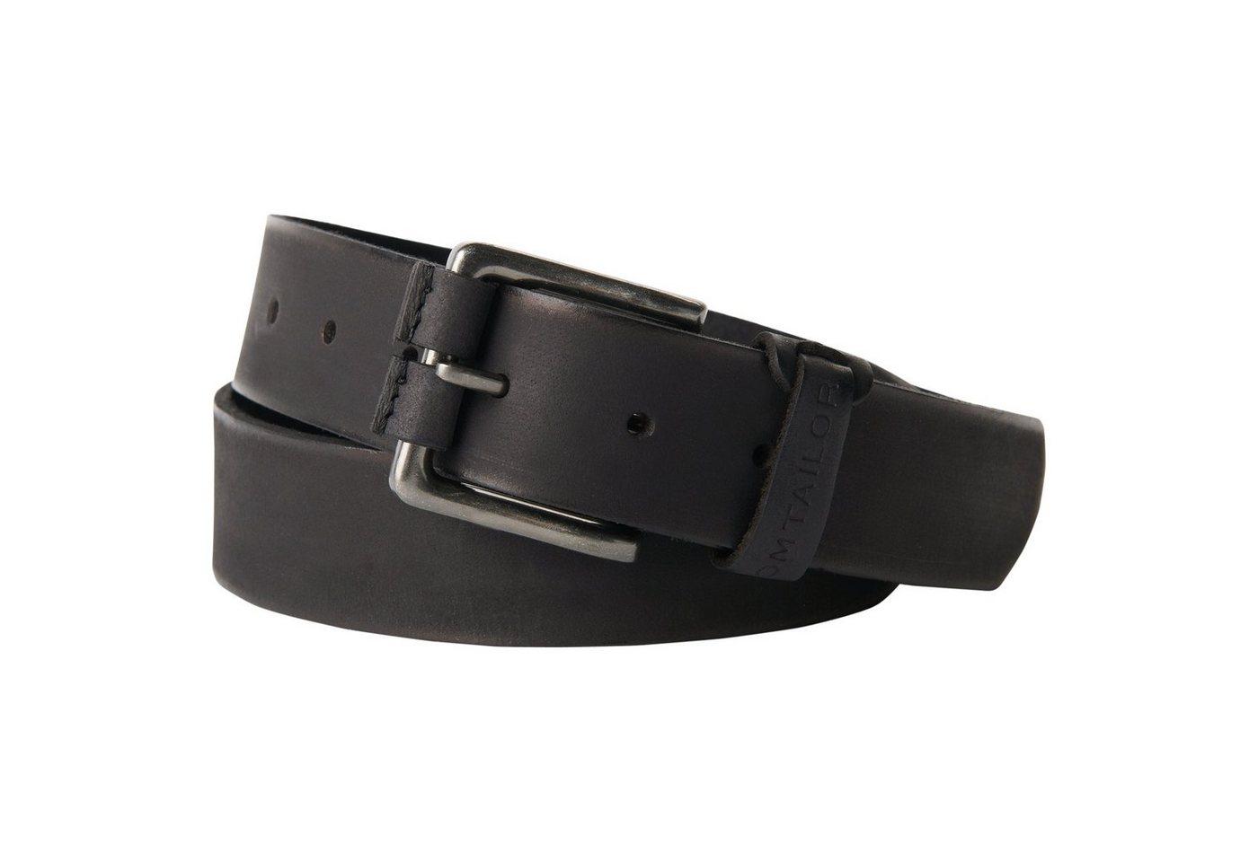 TOM TAILOR riem »Eenvoudige riem van buffelleer«