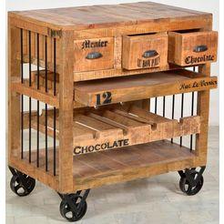 sit keukentrolley met slaapfunctie - met bedkist - zonder laadstation shabby chic, vintage beige