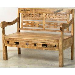 sit zitbank «rustic», in factory-design, breedte 120 cm beige