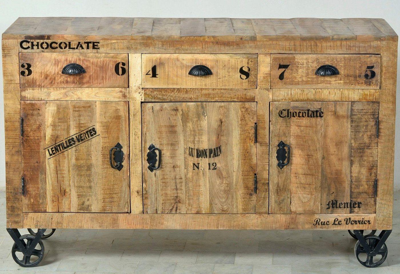 SIT dressoir Rustic, in factory-design, breedte 140 cm