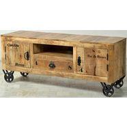 sit tv-meubel »rustic«, in factory-design, breedte 140 cm beige