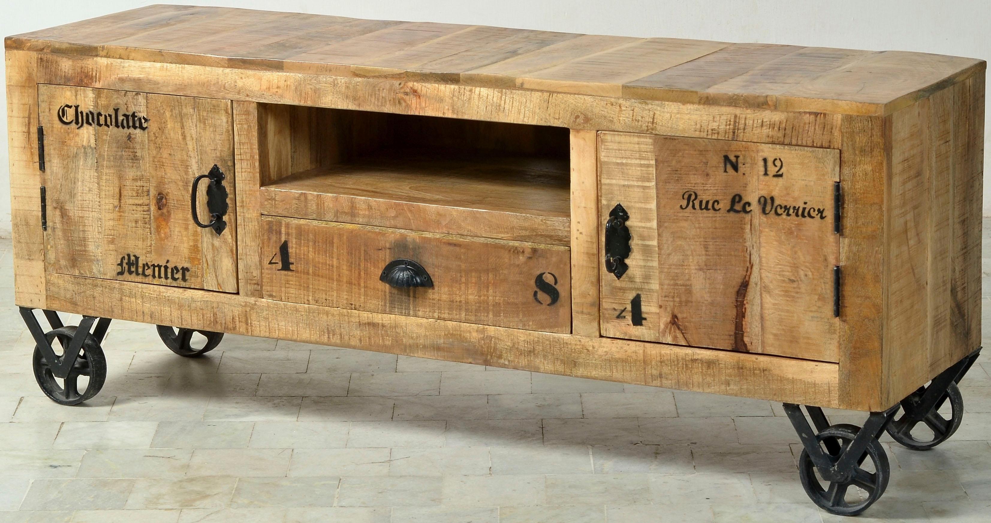 Sit TV-meubel »Rustic«, in factory-design, breedte 140 cm bestellen: 14 dagen bedenktijd