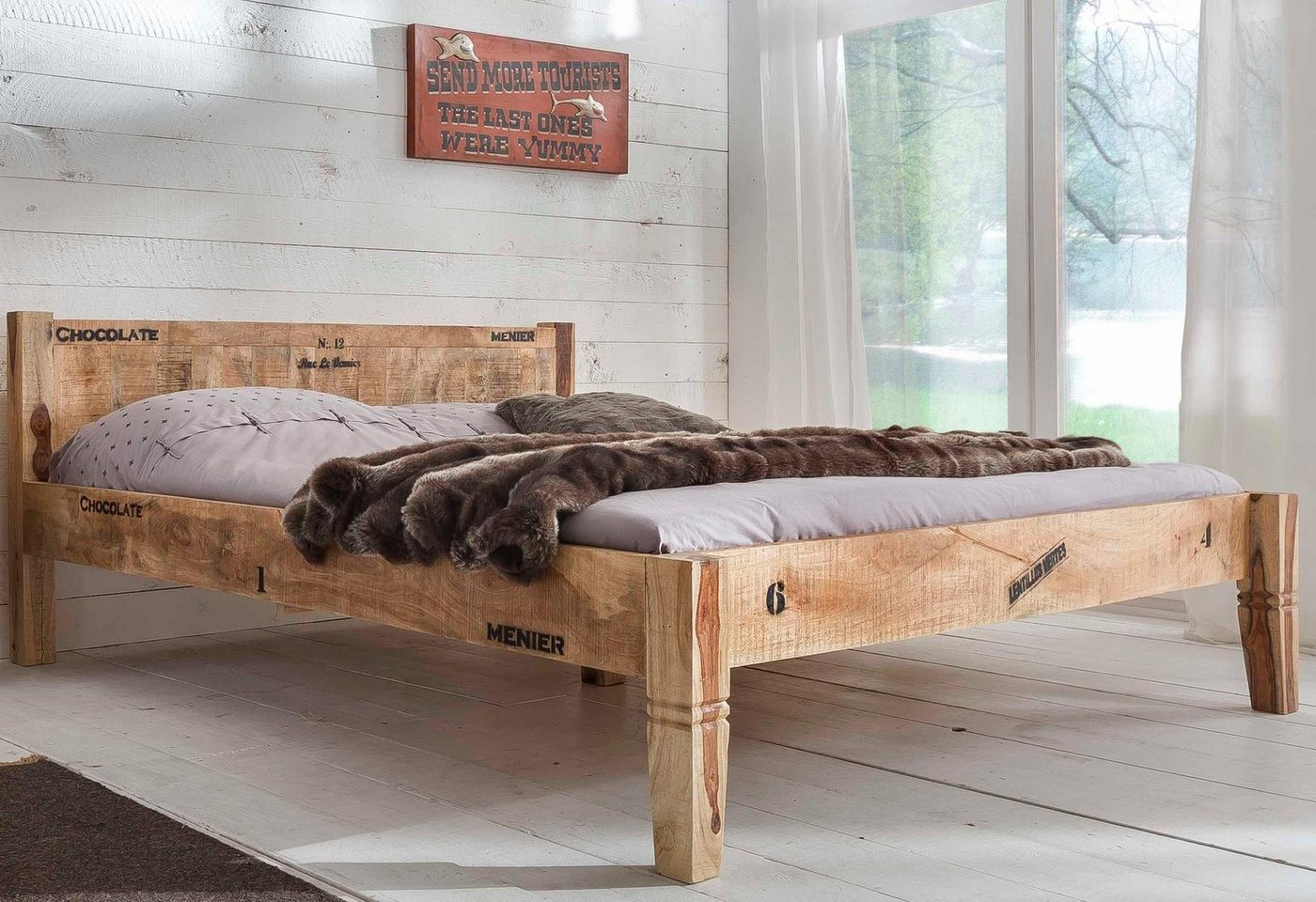 SIT ledikant Rustic, in factory-design, breedte 180 cm