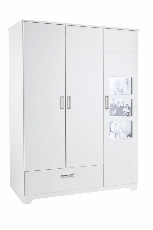 Garderobekast, 3-deurs, passend bij meubelserie Happy, voor je eigen foto's