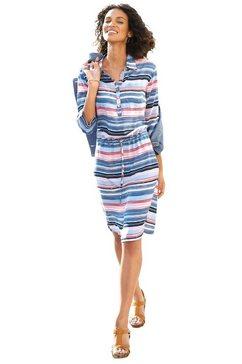 casual looks jurk met overhemdkraag blauw