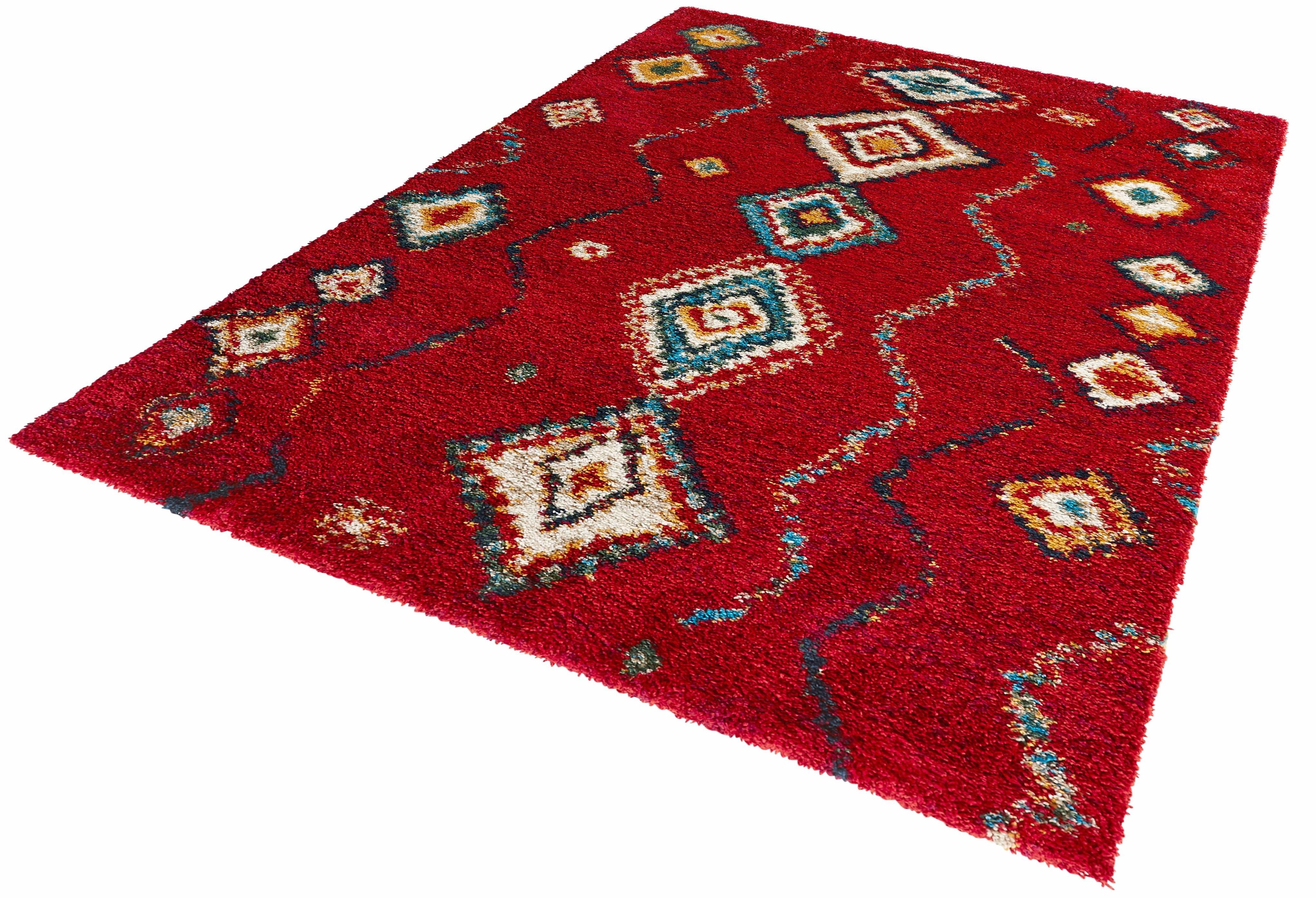 MINT RUGS hoogpolig vloerkleed »Geometric«, hoogte 30 mm, geweven in de webshop van OTTO kopen