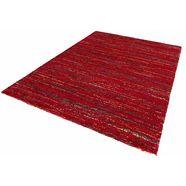 mint rugs hoogpolig vloerkleed »chic«, hoogte 30 mm, geweven rood