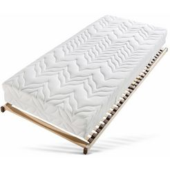 breckle pocketveringsmatras + lattenbodem tendens k incl. lattenbodem (28 latten). met verstelbaar hoofdeinde - het perfect afgestemde slaapsysteem voor elke portemonnee hoogte 31 cm (set)