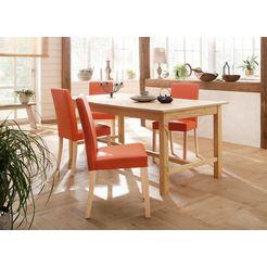 home affaire stoel nina in een set van 2, 4 of 6 (set, 2 stuks) oranje