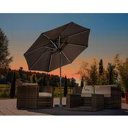 schneider parasols parasol »blacklight it«, ø 270 cm, zonder paraplubak grijs