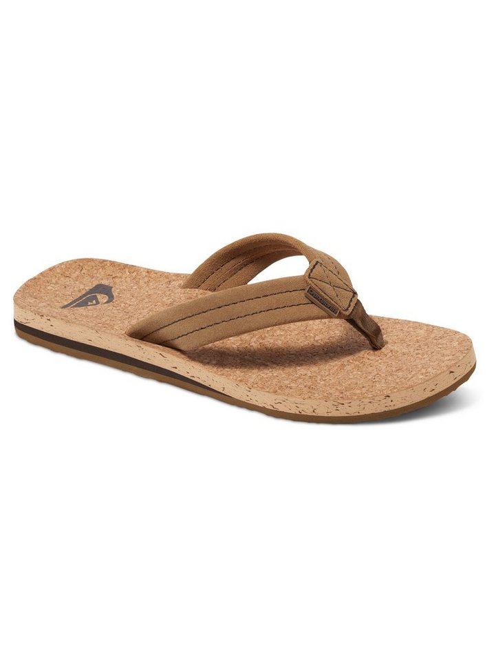 NU 20% KORTING: Quiksilver Suède sandalen »Carver Cork – Wildleder-Sandalen«