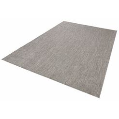 bougari, vloerkleed »match«, hoogte 8 mm, platweefsel grijs