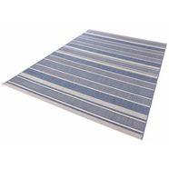 bougari vloerkleed »strap«, hoogte 8 mm, platweefsel blauw