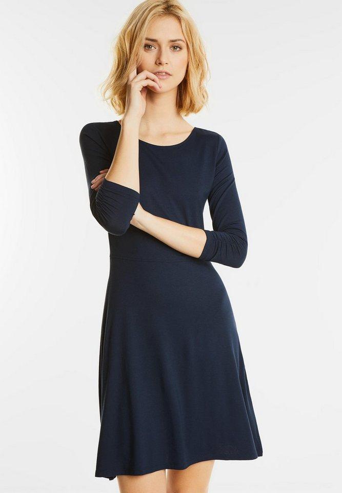 Street One Effen jersey jurk Oda blauw