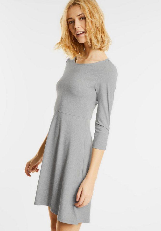 Street One Effen jersey jurk Oda grijs