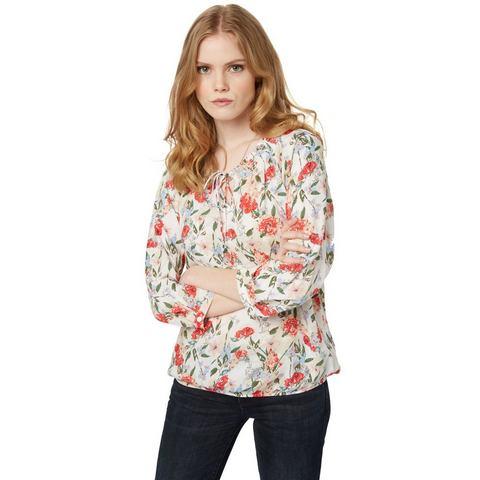 NU 15% KORTING: TOM TAILOR Blouse »Blumen-Bluse«