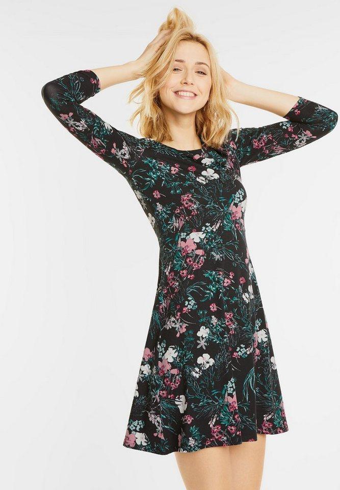 Street One jersey jurk met bloemen Odi multicolor