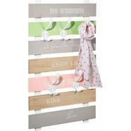 home affaire kapstokpaneel kapstok met een opschrift en 5 kapstokhaken multicolor