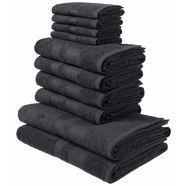 my home handdoekenset vanessa met randdessin grijs