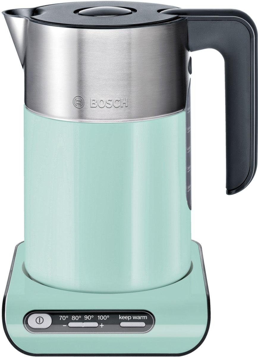 bosch waterkoker styline twk8612p 1 5 liter mint turquoise black grey online shop otto. Black Bedroom Furniture Sets. Home Design Ideas