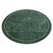 grimmliis kindervloerkleed, rond »sprookje 3«, hoogte 2 mm, platweefsel groen