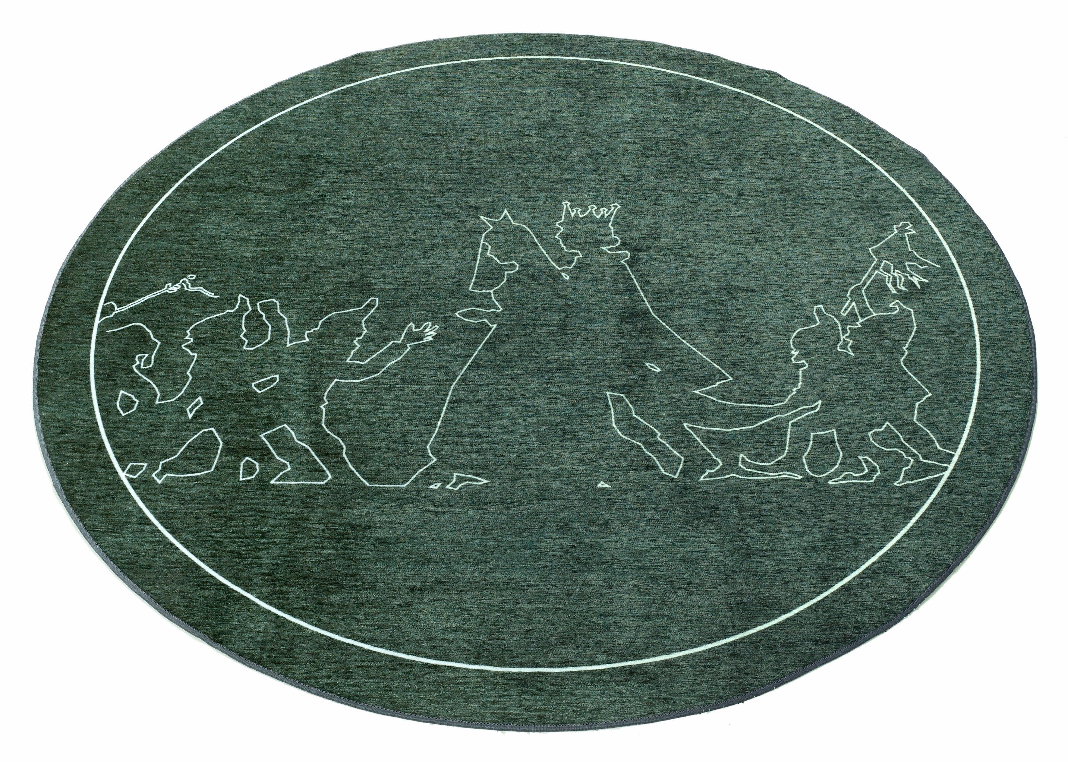 Grimmliis kindervloerkleed, rond »Sprookje 3«, hoogte 2 mm, platweefsel voordelig en veilig online kopen