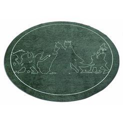 grimmliis vloerkleed voor de kinderkamer sprookje 3 motief sneeuwwitje, kinderkamer groen