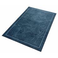 grimmliis vloerkleed voor de kinderkamer sprookje 4 motief repelsteeltje, kinderkamer blauw