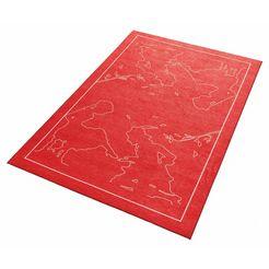 grimmliis kindervloerkleed »sprookje 5«, hoogte 2 mm, platweefsel rood
