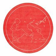 grimmliis kindervloerkleed, rond »sprookje 5«, hoogte 2 mm, platweefsel rood