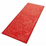 grimmliis loper »sprookje 8«, hoogte 2 mm, platweefsel rood