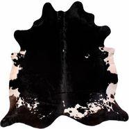luxor living vachtvloerkleed runderhuid 4 echte koeienhuid, natuurproduct - daarom is elke koeienhuid uniek, woonkamer zwart