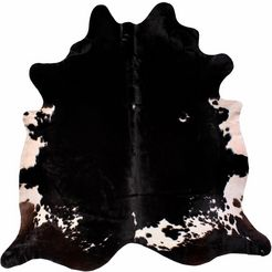 vacht-vloerkleed, luxor living, »koeienvacht 4«, echte runderhuid zwart