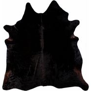 vacht-vloerkleed, luxor living, »koeienvacht 1«, echte runderhuid zwart