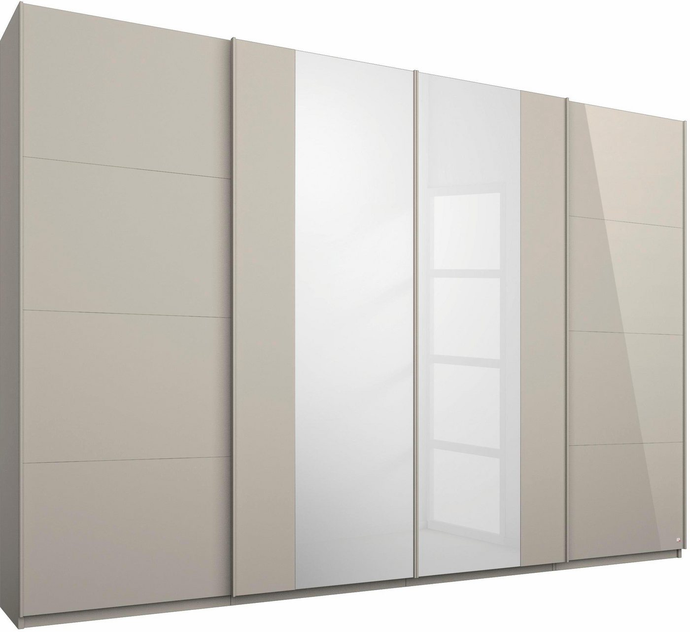 Roomed zweefdeurkast, 4-deurs