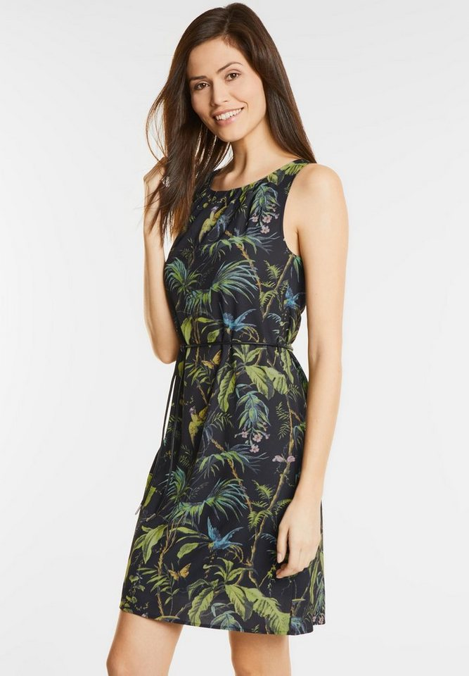 Street One jurk met tropenprint Ona zwart