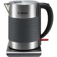 bosch-waterkoker twk7s05, 1,7 liter, 2200 w, grijs-zwart zilver