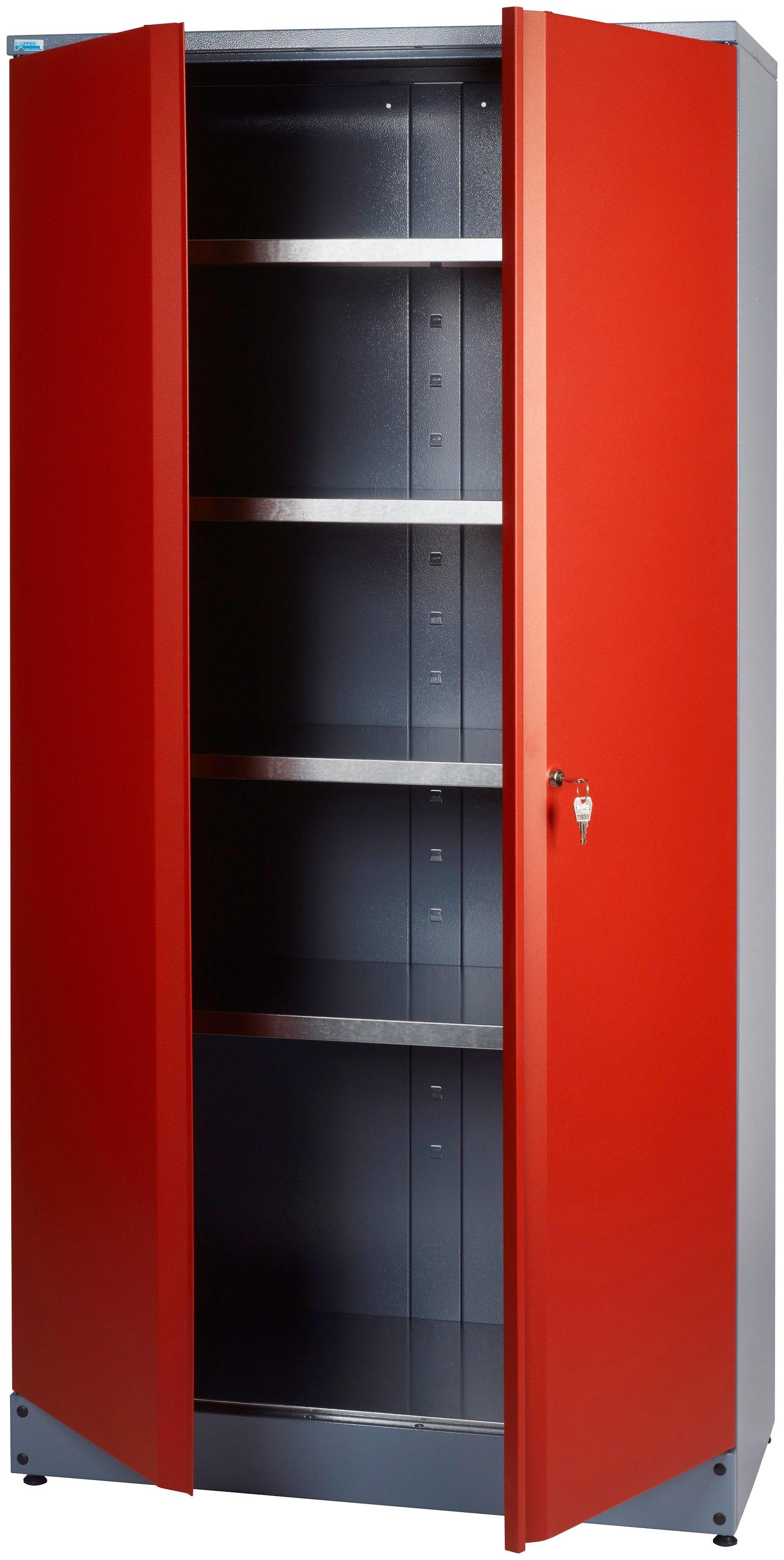 Op zoek naar een Küpper Hoge kast »2 deuren, 4 planken, in rood«? Koop online bij OTTO