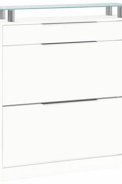 borchardt moebel schoenenkast oliva breedte 89 cm, staand wit