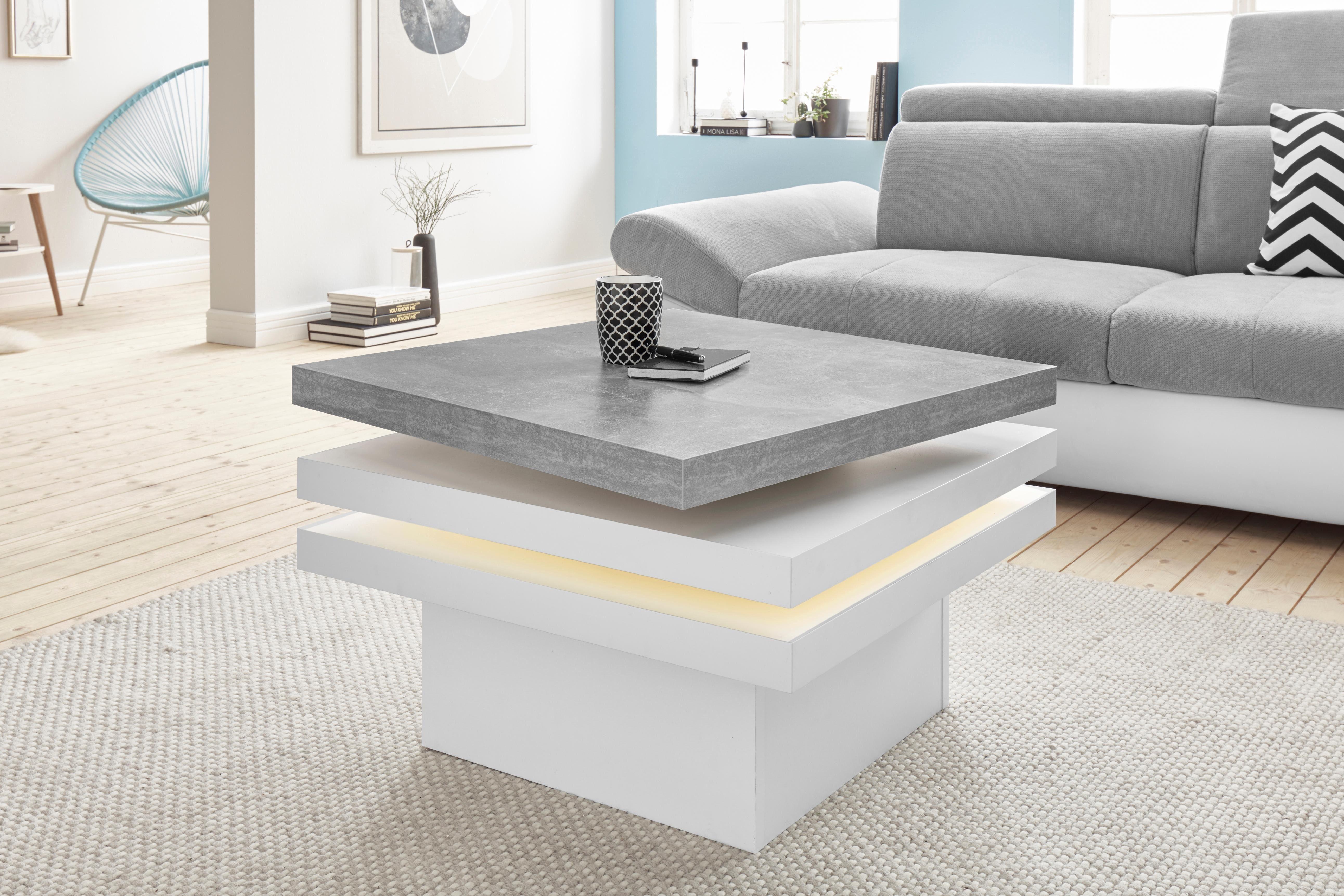 Salon Tafel Wit : Salontafel met led verlichting makkelijk besteld otto