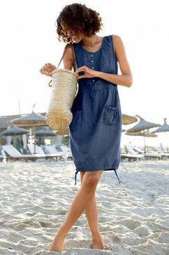 casual looks jurk van puur katoen blauw