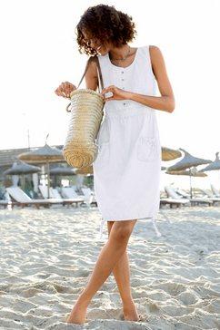 casual looks jurk van puur katoen wit