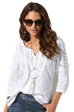 classic inspirationen blouse van puur katoen wit