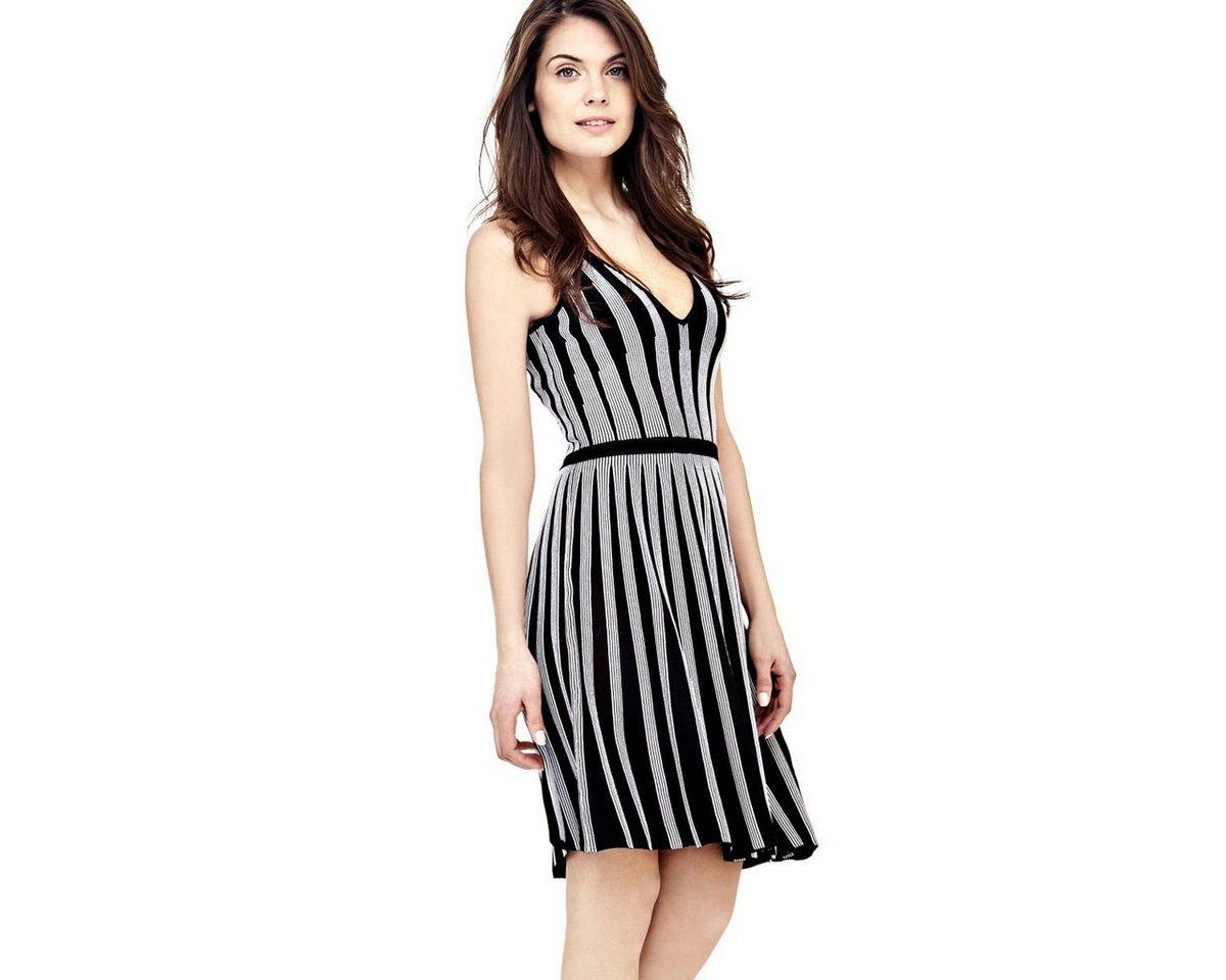 Guess jurk met streepdessin zwart