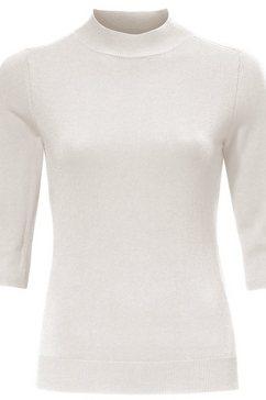 trui met staande kraag wit