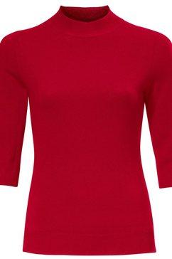trui met staande kraag rood