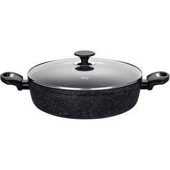 elo serveerpan, aluminium, inductie, ø 28 cm, »granit evolution« zwart