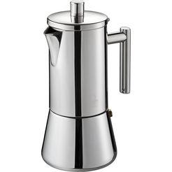 gefu espresso-apparaat, 4 of 6 kopjes, »nando« zilver