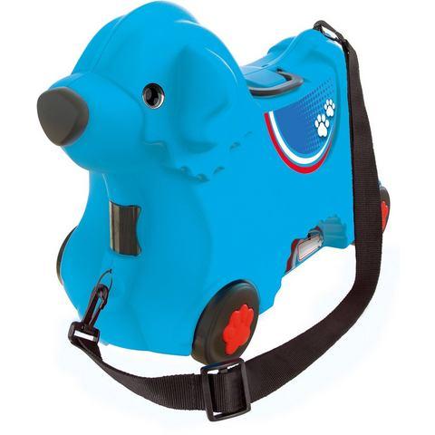 Big NU 15% KORTING: BIG 2-in-1 kindertrolley en loophond, BIG Bobby trolley blauw